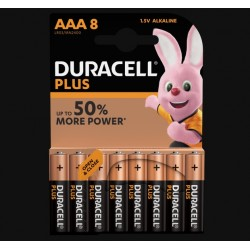 Piles Plus alcalines - LR03 - AAA - Lot de 8 - DURACELL - Pile classique - SI-534837