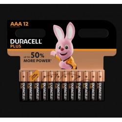 Piles Plus alcalines - LR03 - AAA - Lot de 12 - DURACELL - Pile classique - SI-534839