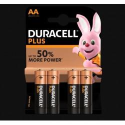 Piles Plus alcalines - LR06 - AA - Lot de 4 - DURACELL - Pile classique - SI-534832