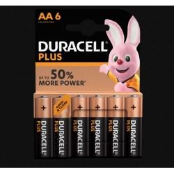 Piles Plus alcalines - LR06 - AA - Lot de 6 - DURACELL - Pile classique - SI-534834