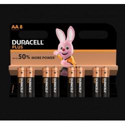 Piles Plus alcalines - LR06 - AA - Lot de 8 - DURACELL - Pile classique - SI-534836