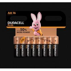 Piles Plus alcalines - LR06 - AA - Lot de 16 - DURACELL - Pile classique - SI-534840