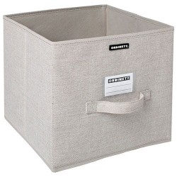 Cube de rangement - Linette - Beige - ORDINETT - Rangement et soin du linge - DE-442269