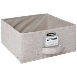 Demi-cube de rangement - Linette - Beige - ORDINETT - Rangement et soin du linge - DE-442277