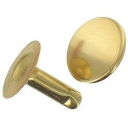 Rivet tubulaire laitonné - ⌀3 x 9 mm - Lot de 25 - VYNEX - Rivet - DE-371229