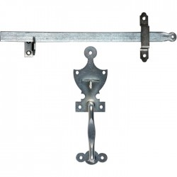 Accessoires d'espagnolette - Noir - Crochets droits - Provence - TORBEL - Poignée de porte / portail - SI- 349317