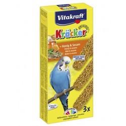 Baguette Miel / Sésame x 3 - Perruche - Kräcker - VITAKRAFT - Oiseaux, volatiles - DE-792721