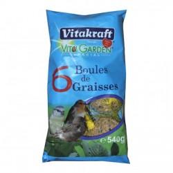 Sachet de 6 boules de graisse - Oiseaux du jardin - VITAKRAFT - Oiseaux, volatiles - DE-803973