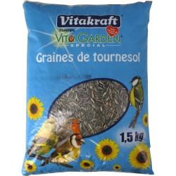 Graines de Tournesol - Oiseaux du jardin - 1.5 kg - VITAKRAFT - Oiseaux, volatiles - DE-219964