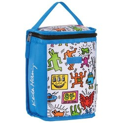 Sac isotherme pour goûter - 16 x 11 x 23 cm - Keith Haring - ORDINETT - Boite, sac - DE-452870