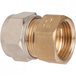Raccord droit à serrage - Rapido - Femelle - Laiton - 15 x 21 mm - 12 mm - Raccords sans soudure - SI-385418