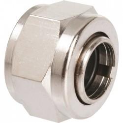 Écrou hexagonal à serrage - Rapido - Femelle - Laiton - 12 x 17 mm - 10 mm - Raccords sans soudure - SI-385408