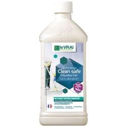 Nettoyant multi surfaces / dépolluant air - Clean Safe - Concentré 1 L - LE VRAI PROFESSIONNEL - Produits multi-usages - DE-5...