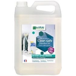 Nettoyant multi surfaces / dépolluant air - Clean Safe - Concentré 5 L - LE VRAI PROFESSIONNEL - Produits multi-usages - DE-5...