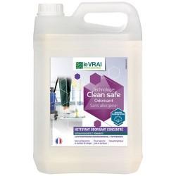 Nettoyant multi surfaces / dépolluant air - Clean Safe - Concentré Odorisant 5 L - LE VRAI PROFESSIONNEL - Produits multi-usa...