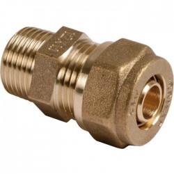 Raccord droit à compression - Mâle - 15 x 21 mm - 12 mm - Raccords à visser - SI-331201