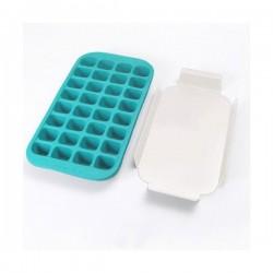 Bac à glaçons et support rigide - 32 glaçons - Bleu - LEKUE - Pour le froid - DE-532169