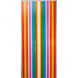 Rideau de lanières - Plastique - 220 x 90 - Arc en Ciel - MOREL - Rideaux - DE-539247