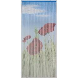 Rideau - Bambou peint - Coquelicot - 200 x 90 - MOREL - Rideaux - DE-183368