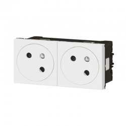 Double prise de courant - 2P+T - Mozaic Link - Blanc - LEGRAND - Prises - SI-102730