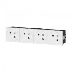 Quadruple prise de courant - 2P+T - Mozaic Link - Blanc - LEGRAND - Prises - SI-102732