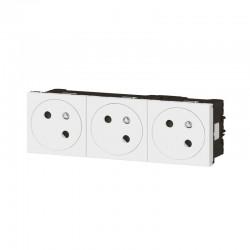 Triple prise de courant - 2P+T - Mozaic Link - Blanc - LEGRAND - Prises - SI-102731
