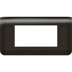 Plaque de finition horizontale pour 4 modules - Mosaic - Noir - LEGRAND - Plaques d'interrupteur - SI-266132