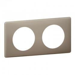Plaque Céliane - 2 postes - Grès - Poudré - LEGRAND - Plaques d'interrupteur - SI- 416065