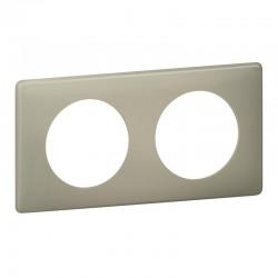 Plaque Céliane - 2 postes - Argile - Poudré - LEGRAND - Plaques d'interrupteur - SI- 416063