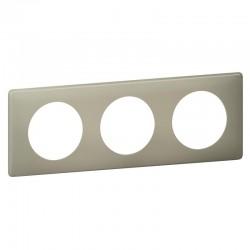 Plaque Céliane - 3 postes - Argile - Poudré - LEGRAND - Plaques d'interrupteur - SI- 416067