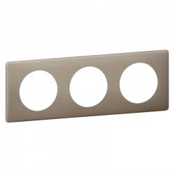 Plaque Céliane - 3 postes - Grès - Poudré - LEGRAND - Plaques d'interrupteur - SI-416069