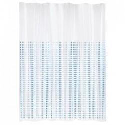 Rideau de douche en Peva - Stria - 180 x 200 - Blanc / Bleu - GELCO DESIGN - Accessoires salle de bain - BR-608381