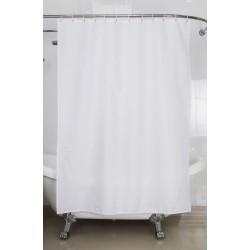 Rideau de douche - Blanc - 180 x 200 - ARVIX - Accessoires salle de bain - BR-703436