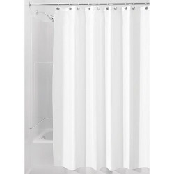 Rideau de douche - Blanc - 180 x 200 - INTERDESIGN - Accessoires salle de bain - DE-219675