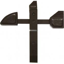 Arrêt de grille à bascule pour portail - Acier - Noir - 250 mm - TORBEL - Arrêt de portail - BR-595522