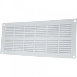 Grille plate à visser - Plastique - Blanc - 337 x 131 mm - DMO - Grille de ventilation - BR-192187