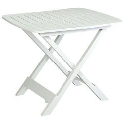 Table pliante - Tevere - Blanc - 79 x 72 x 70 cm - Accessoires pique-nique / camping / détente - DE-673616