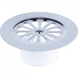 Grille marguerite à cloche pour bonde de douche verticale - Inox - 85 mm - VALENTIN - Bouchons / clapets et grilles de vidage...