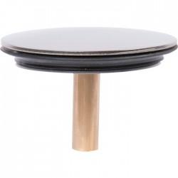Clapet rentrant pour vidage de baignoire - Inox - 44.5 mm - VALENTIN - Bouchons / clapets et grilles de vidage - SI-416099