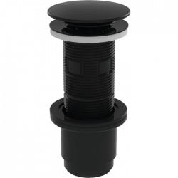 Bonde universelle - Cut&Click - Lavabo - Recoupable - 100 mm - Noir - VALENTIN - Bondes pour lavabo / Bidet / Douche - SI-383811