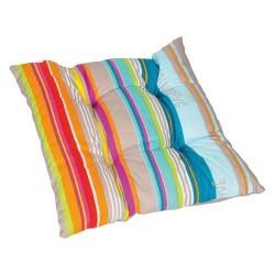 Assise de chaise - Floconnée - Rayures multicolores - JARDIN PRIVÉ - Accessoires textiles jardin - DE-243155