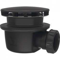 Bonde extra-plate pour receveur de douche - 90 mm - Noir - VALENTIN - Bondes pour lavabo / Bidet / Douche - SI-383810