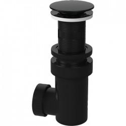 Bonde universelle avec siphon - Lavabo - Clapet Clic-Clac - 65 mm - Noir - VALENTIN - Bondes pour lavabo / Bidet / Douche - S...