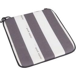 Assise de chaise - Cancale - Gris / Blanc - JARDIN PRIVÉ - Accessoires textiles jardin - DE-802041