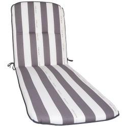 Coussin pour bain de soleil - Cancale - Gris / Blanc - JARDIN PRIVÉ - Accessoires textiles jardin - DE-802066