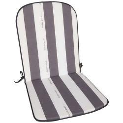 Coussin pour fauteuil x 2 - Cancale - Gris / Blanc - JARDIN PRIVÉ - Accessoires textiles jardin - DE-802074