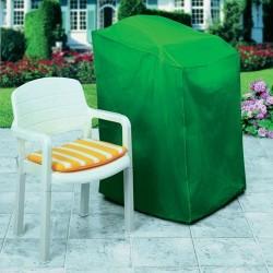 Housse pour chaise de jardin - Vert - RAYEN - Protection mobilier jardin - DE-201533