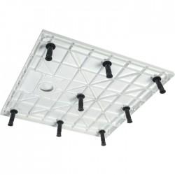 Lot de 6 pieds réglables pour receveur de douche - Noir - ODYSSEA - Receveur de douche - SI-351240