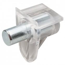 Taquet d'étagère Safety - 5 mm - Transparent- HETTICH - Équerre / Taquet - SI-430005