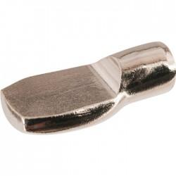 Taquet à douille pour bois - A enficher - 7 mm - Nickelé - HAFELE - Équerre / Taquet - SI-420051